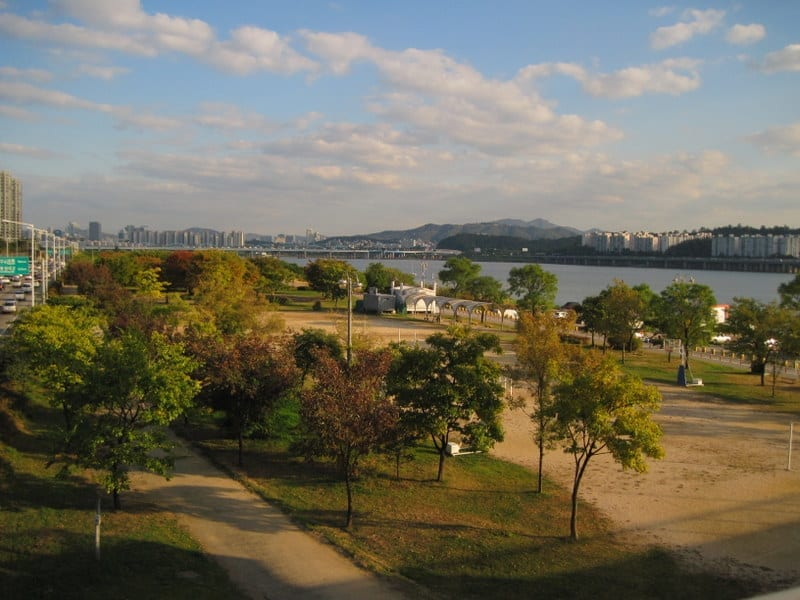 פארק ההאנגנג לצד Ichon לאורך ההאן
