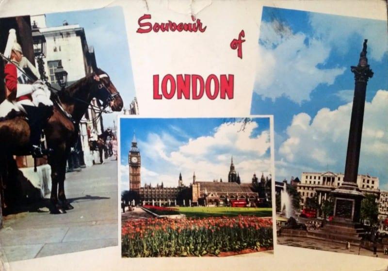 גלויה מלונדון