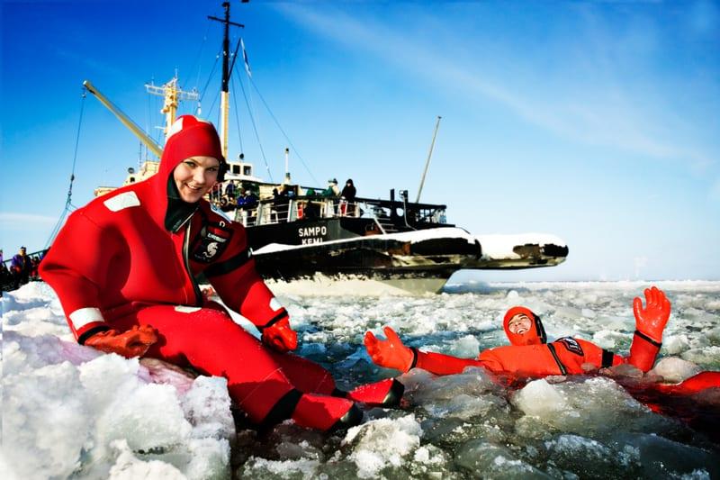 טיול ללפלנד - ציפה בקרח
