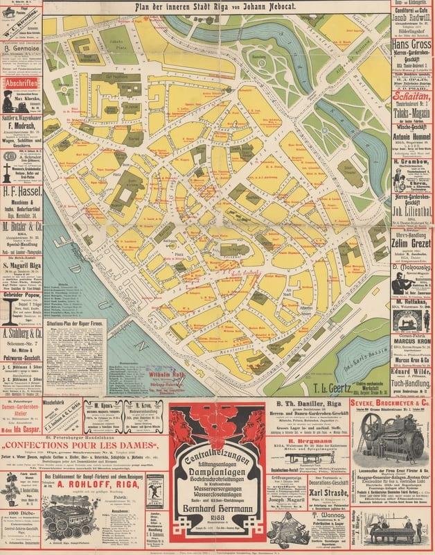 מפת ריגה משנת 1904