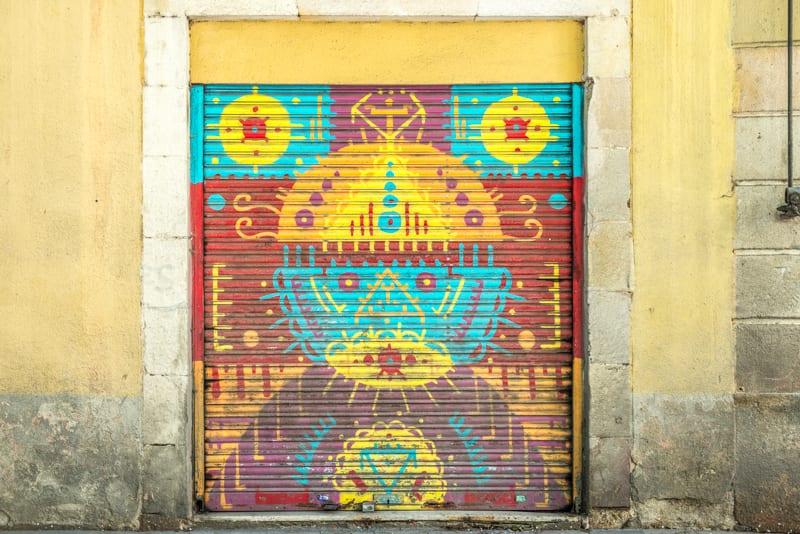 אמנות רחוב בברצלונה. צילום: ענבל כבירי