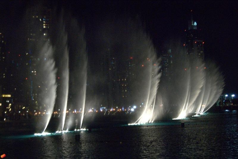 מזרקות מים בדובאי