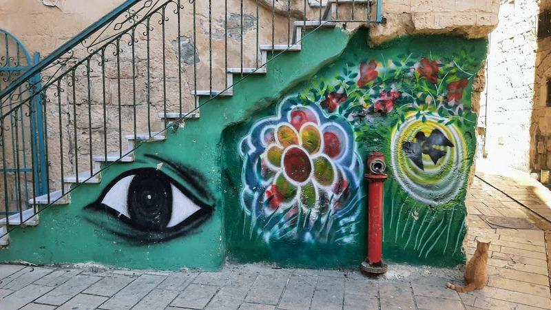 חופשה בעכו העתיקה אמנות רחוב
